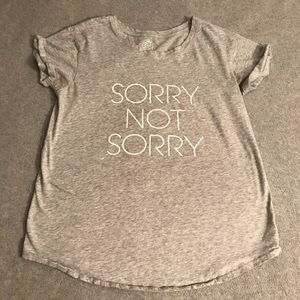 Aerie Gray sorry not sorry Real Soft Tee small